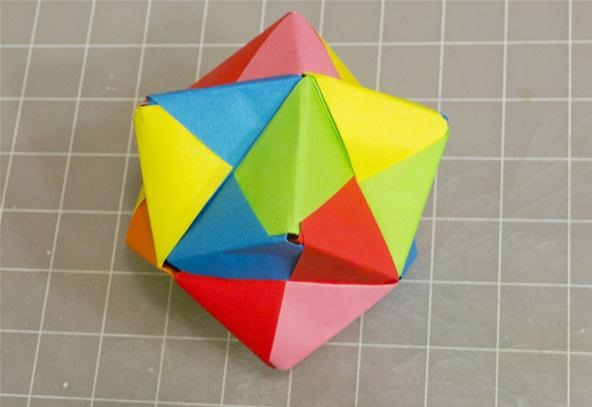 Modular Origami: How to Make a Cube, Octahedron & Icosahedron from ... | 407x592