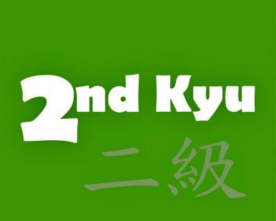 2nd-Kyu Green Belt