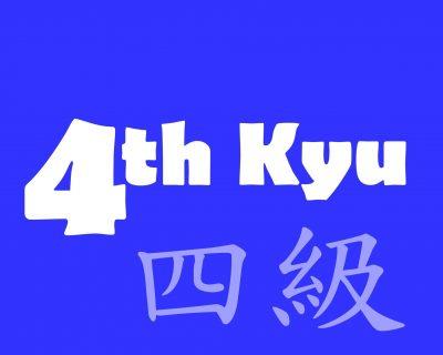 4th-Kyu Blue Belt