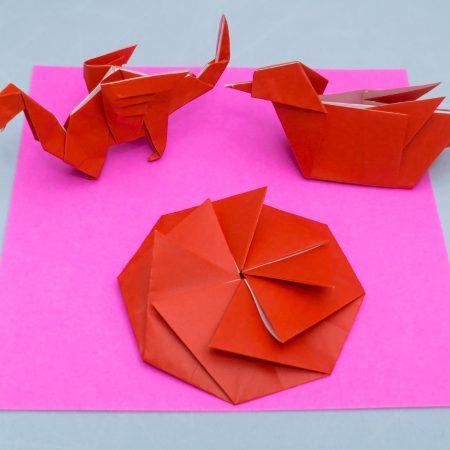 1st-Kyu Red Belt Basic Folds for Taro's Origami Method