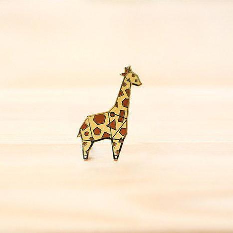 b319e4a33 Hug A Porcupine Giraffe Enamel Pin The Origami. Sold Ciner Giraffe Pin  Brooch W Swarovski Crystals